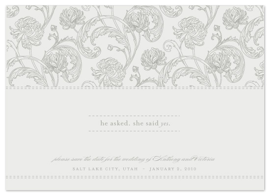 save the date cards - Winter Stitch by Milkmaid Press