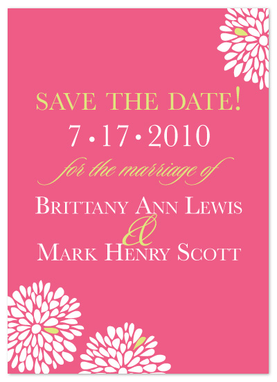 save the date cards - Burst of Blooms by Laura Smetak