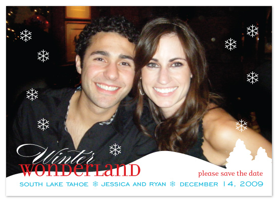 save the date cards - Winter Wonderland Wedding by Avery