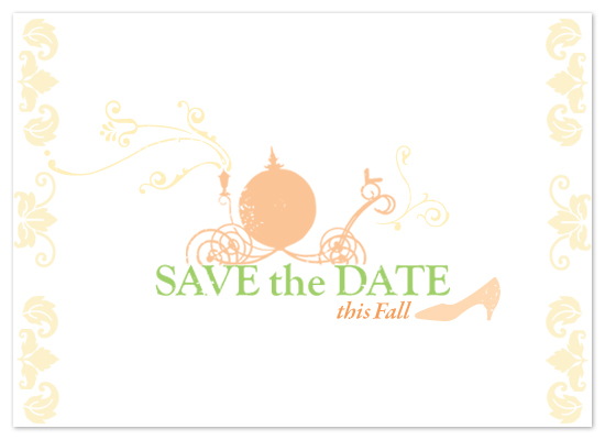 save the date cards - Pumpkin Carriage by Ashley Hay