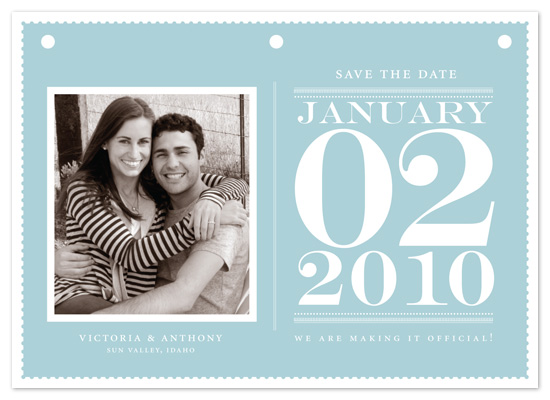 save the date cards - desk calendar by pottsdesign
