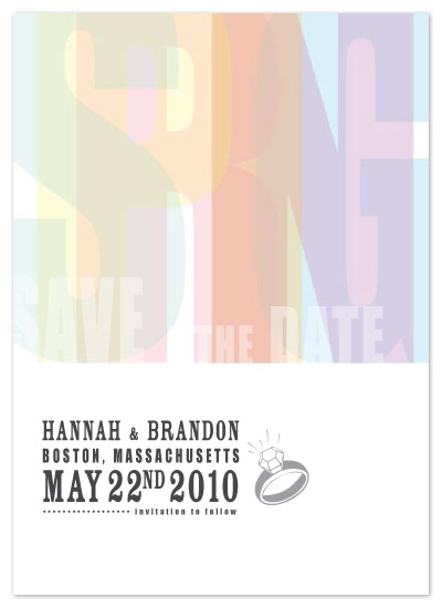 save the date cards - Faux Letterpress by B Etheredge