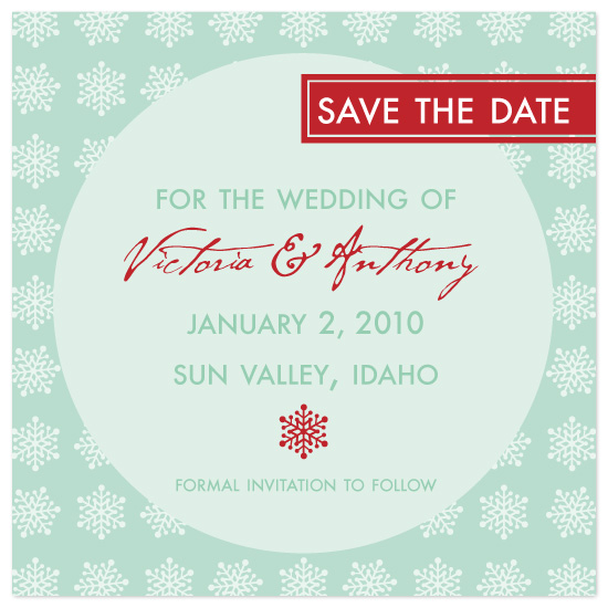 save the date cards - Winter Snowflakes by Laura Smetak