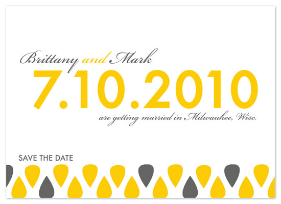 save the date cards - The Hipster by Cracked Designs