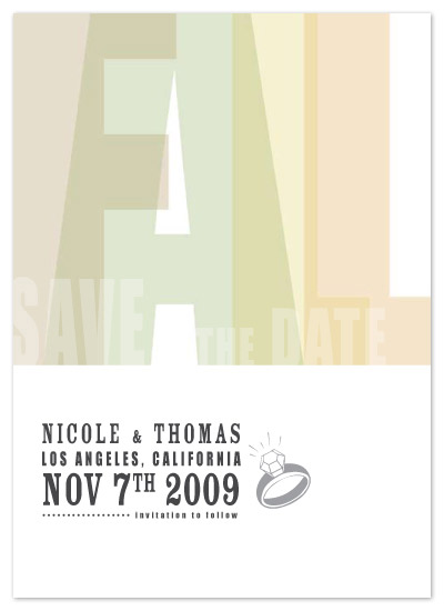 save the date cards - Fall Faux Letterpress by B Etheredge