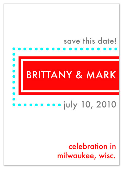 save the date cards - Drive In by Cracked Designs
