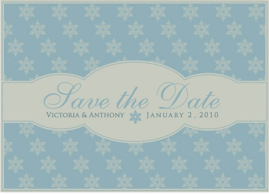 save the date cards - Snowfall by J Sosa