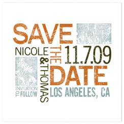 Falling Type Save the Date