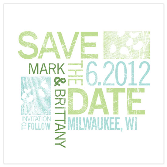 save the date cards - Summer Block Poster Save the Date by Rachael Schendel