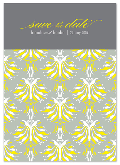 save the date cards - lotus pattern by SD Design