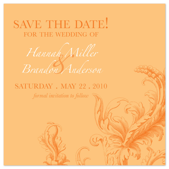 save the date cards - Spring Scroll by Laura Smetak