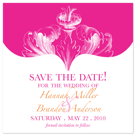 save the date cards - Spring Botanical by Laura Smetak