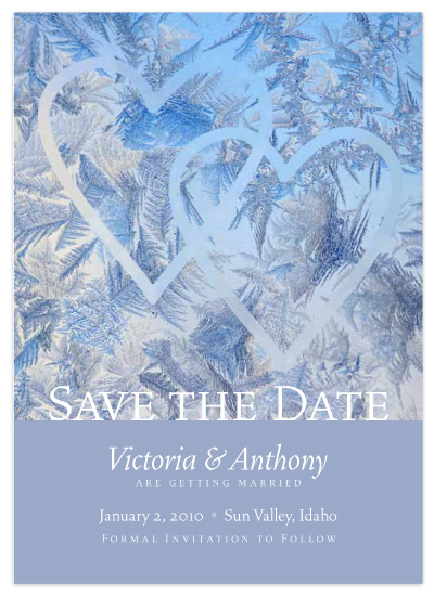 save the date cards - Frosted Window by Juniper Berry Design