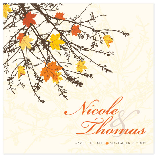 save the date cards - Fall Foliage by Sekayi Brunson