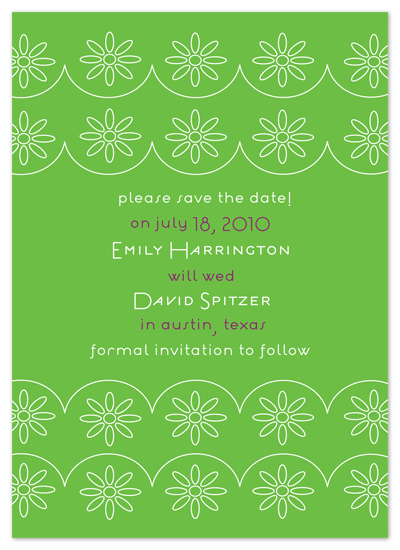 save the date cards - Eyelet Pattern by Avery