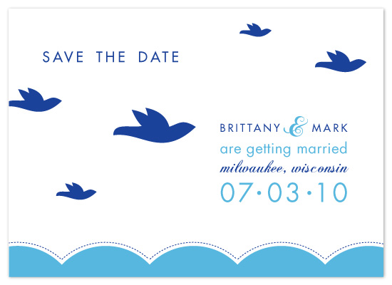 save the date cards - Birds on the Lake by Union Paperie