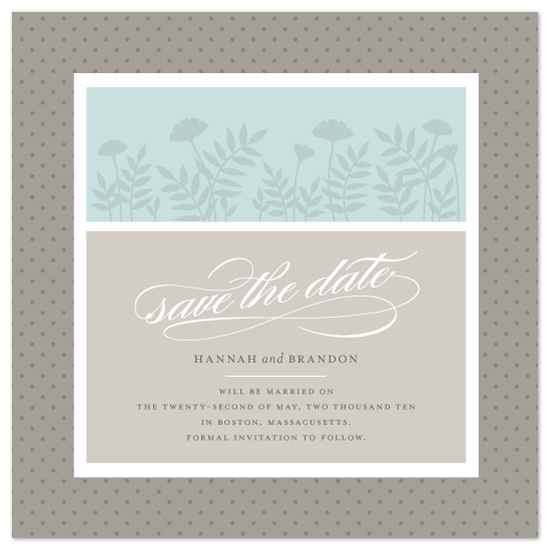 save the date cards - Love in Bloom by Maddy
