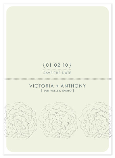 save the date cards - wavy flowers by SD Design