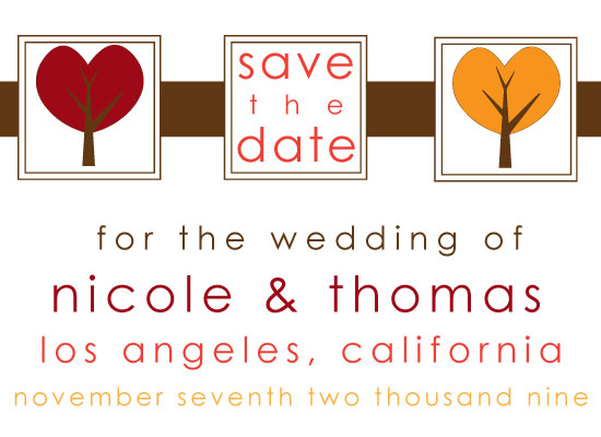 save the date cards - We Heart Trees by Sarah Brown