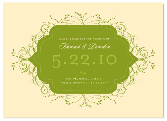 save the date cards - Flourishing by Letter19Design