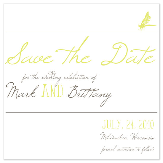 save the date cards - Summer Dragonfly by Pretty {much} Art