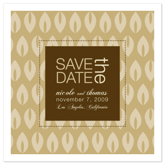 save the date cards - Modern Leaves by Seedlings