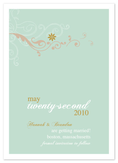 save the date cards - Spring Swirls by Seedlings