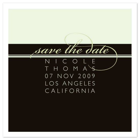 save the date cards - chocolate by six other press