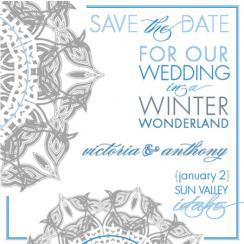 chic, winterlike wedding