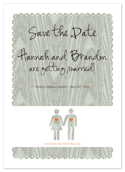 save the date cards - two hearts are better than one by nichole tremblay