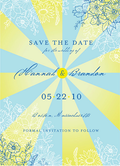 save the date cards - Sunshine by Love at First Invite