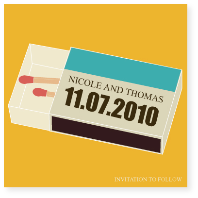 save the date cards - perfect match by Marabou Design
