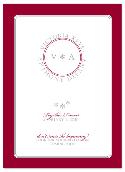 save the date cards - Together Forever by Jessica Armstrong