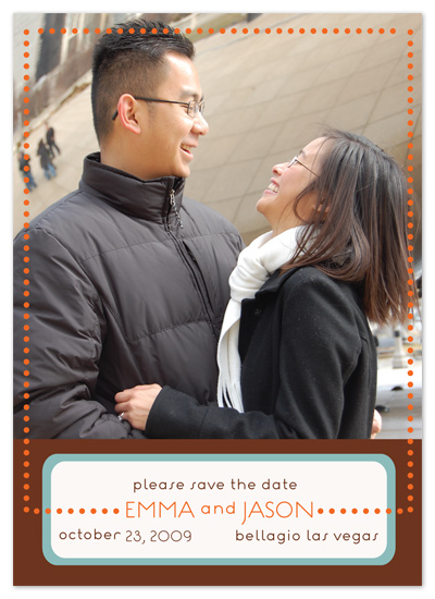 save the date cards - Shades of Autumn by Avery