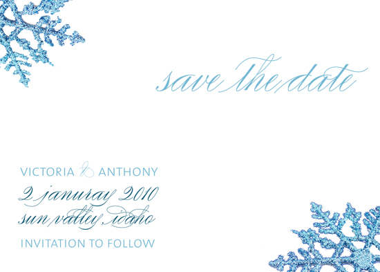 save the date cards - shimmer flakes by ciao•tay