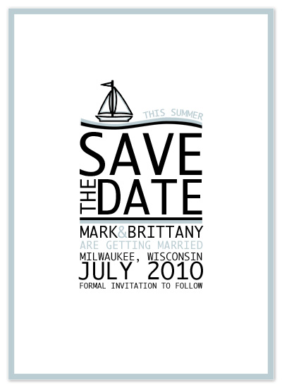 save the date cards - Sailing Summer Save The Date by Far-Far Design