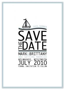 Sailing Summer Save The Date