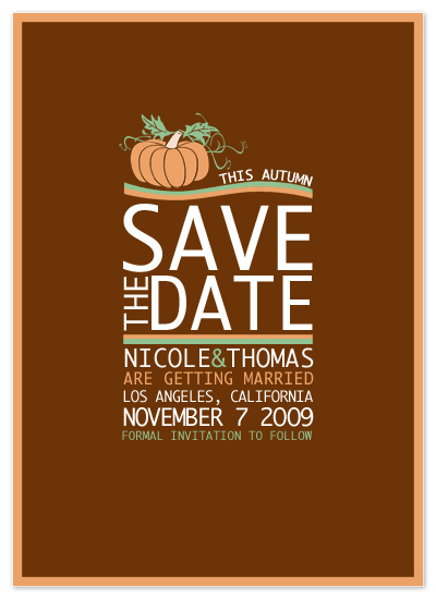 save the date cards - Pumpkin Patch Save The Date by Far-Far Design