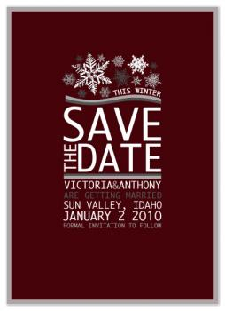 Snowflakes For Winter Save The Date