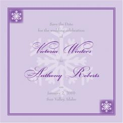 Purple and Silver Snowflakes
