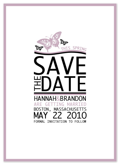 save the date cards - Spring & Butterflies by Far-Far Design