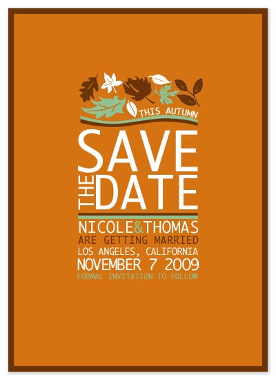 save the date cards - Autumn Colors Save The Date by Far-Far Design