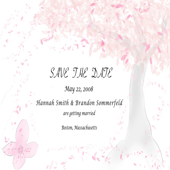 save the date cards - Cherry Blossoms by Christopher Reale