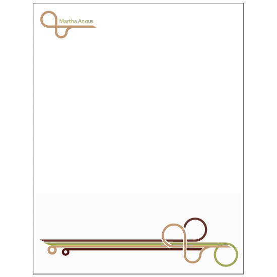 personal stationery - follow the bends by Natti