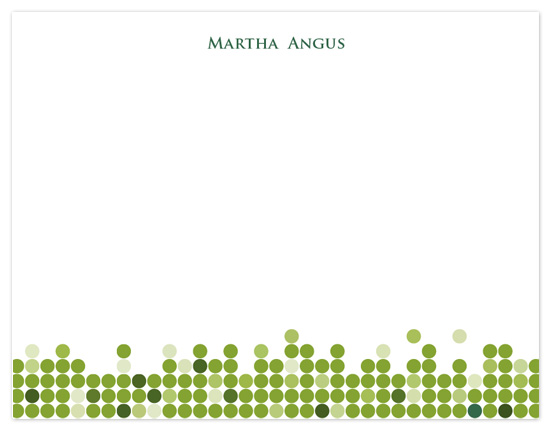 personal stationery - Green dots by MengStudio