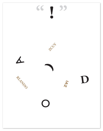 personal stationery - typehead exclamation by six other press