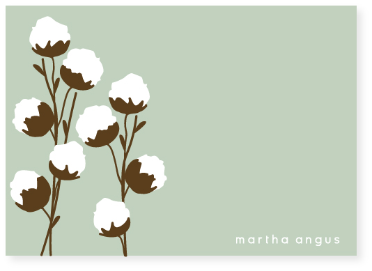 personal stationery - cotton branch by Marabou Design
