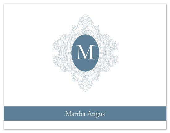 personal stationery - Blue Monogram by Sekayi Brunson