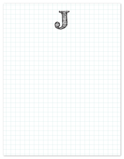 personal stationery - Sketchy Grid by Whitney Beard