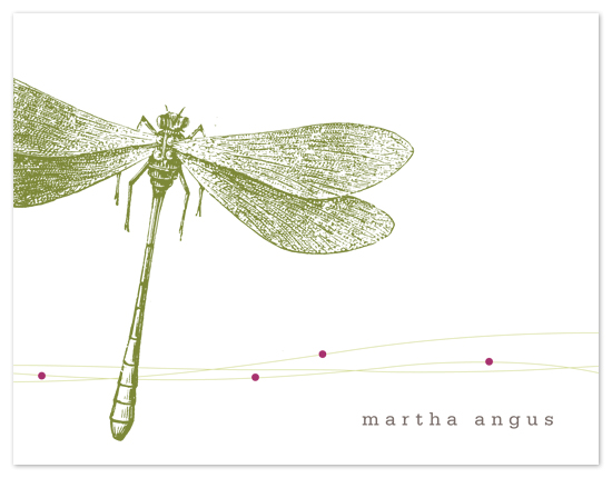 personal stationery - Dragonfly by Amanda Larsen Design